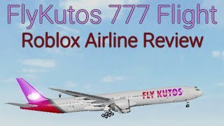 FlyKutos 777 Flight - Roblox Airline Review