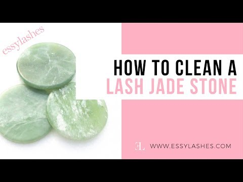 How To Clean A Lash Jade Stone (For Eyelash Extensions)
