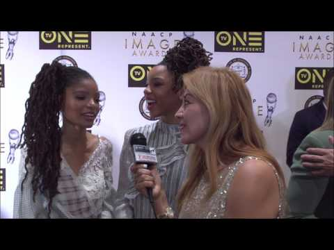 Marie Bogacz Interviews Nominees Chloe x Halle at 48th NAACP Image Awards Luncheon streaming vf