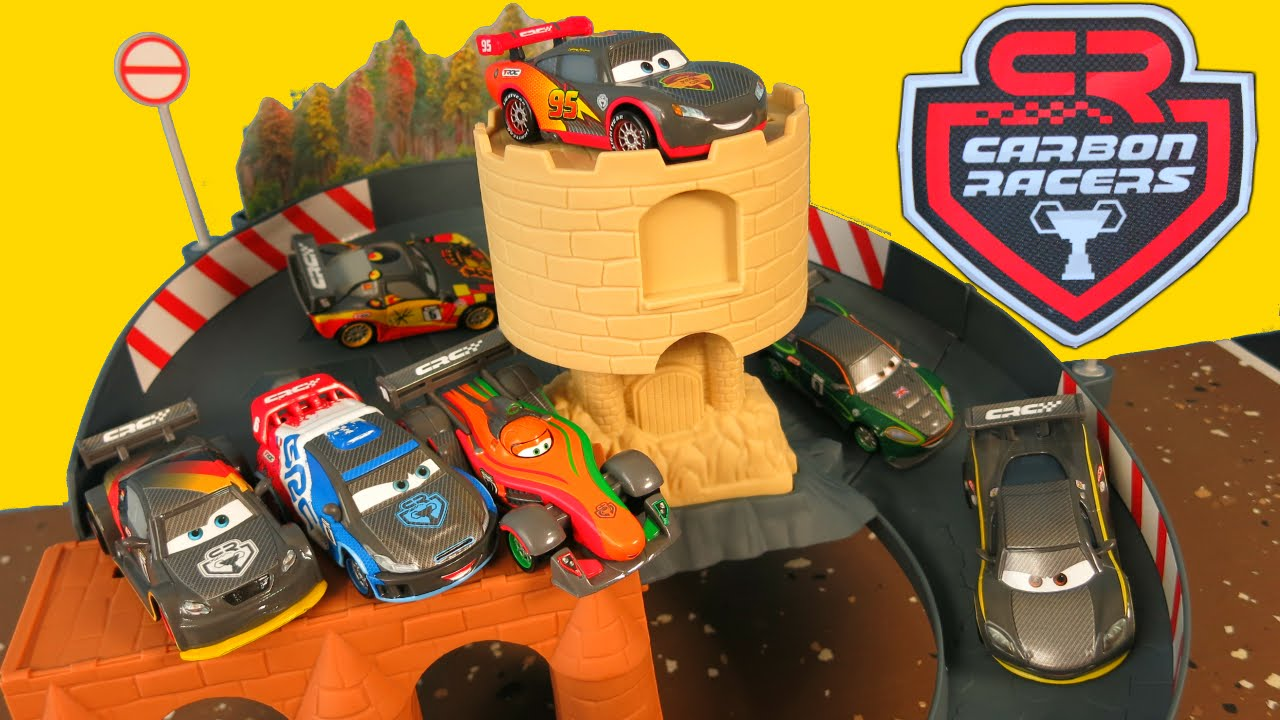 New Disney Pixar Cars 2 Carbon Racers Race Track Nurburgring Course Germany Drift Racing Youtube