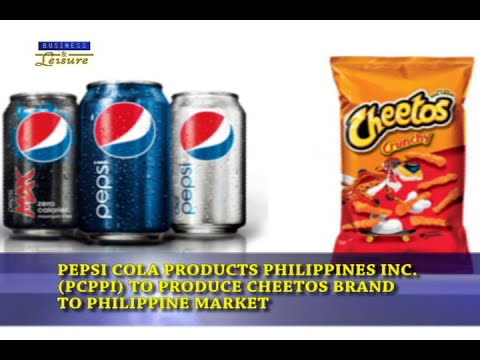 Bizwatch -  Pepsi Cola Products Philippines to Produce Cheetos Brand to Philippine Market