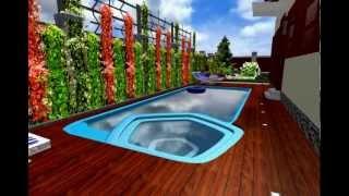 видео Обустройство SPA-зоны у бассейна