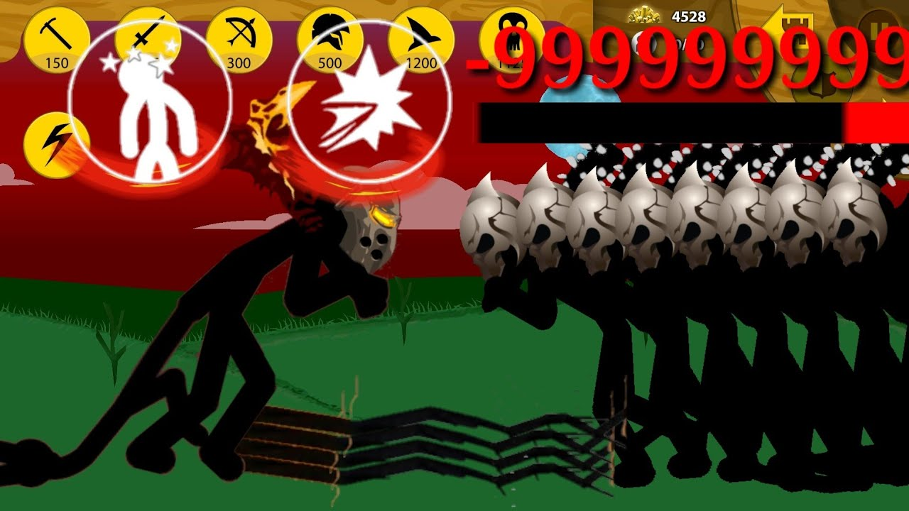 Stick War Legacy   Kĩ Năng Tiềm Ẩn Trong Giant God LV999999999 Siêu Mạnh Khi Cầm Sao   KasubukTQ