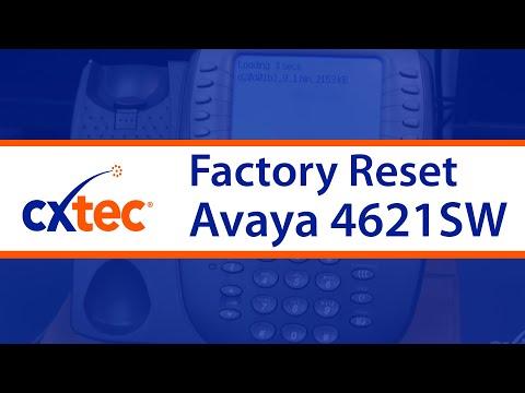 How to Factory Reset an Avaya 4621SW IP Phone - CXtec tec Tips