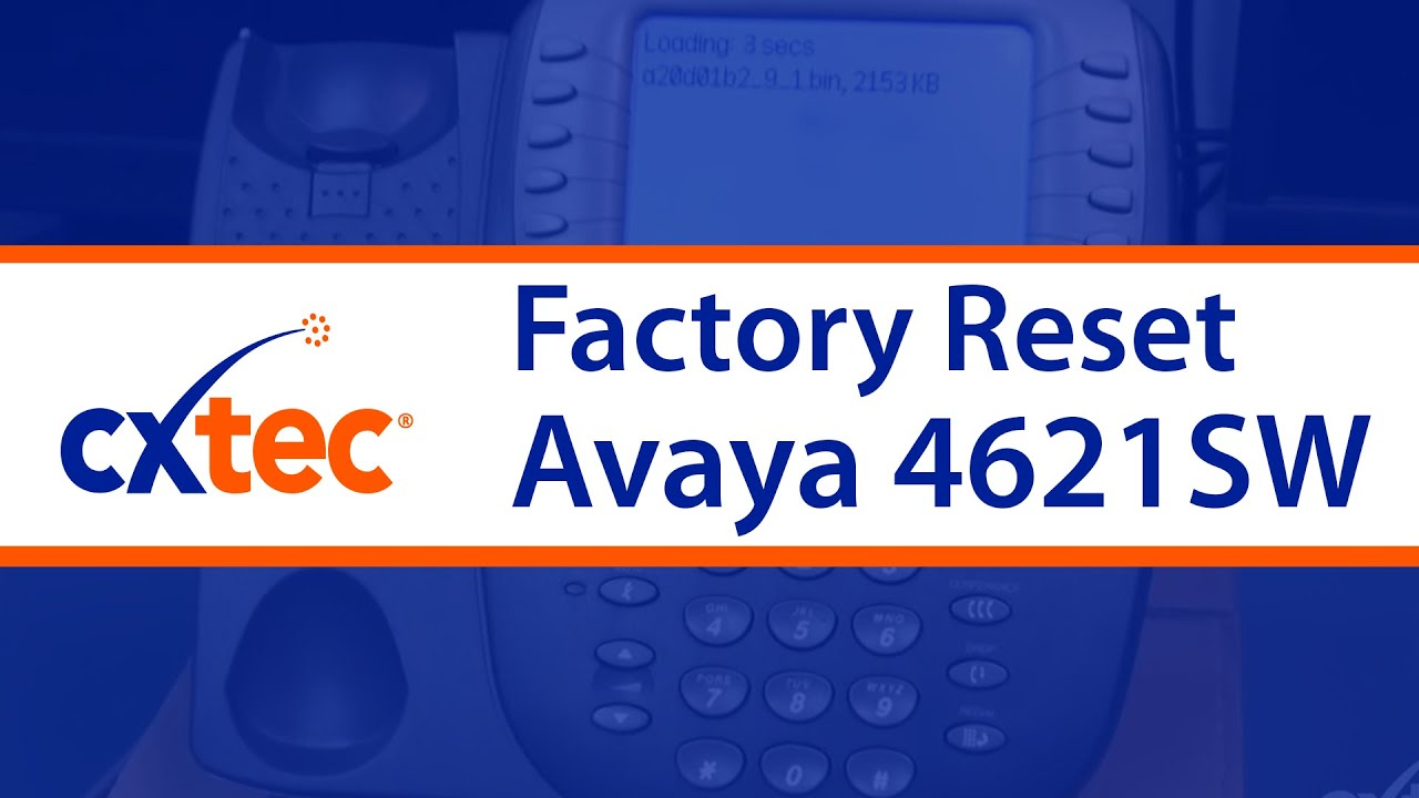how to factory reset an avaya 4621sw ip phone cxtec tec tips youtube rh youtube com Avaya IP Phone Manual 4412D Avaya IP Phone Manual 4412D