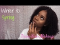 Soft Glam | NYX Lingerie | Nude lips for Black Girls | Winter To Spring Makeup | Get Ready With Me