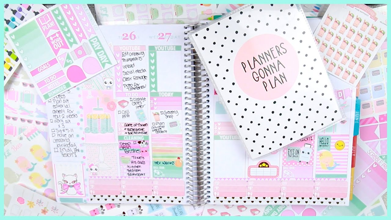 Plan with me may 2015 elle fowler youtube for Plan me