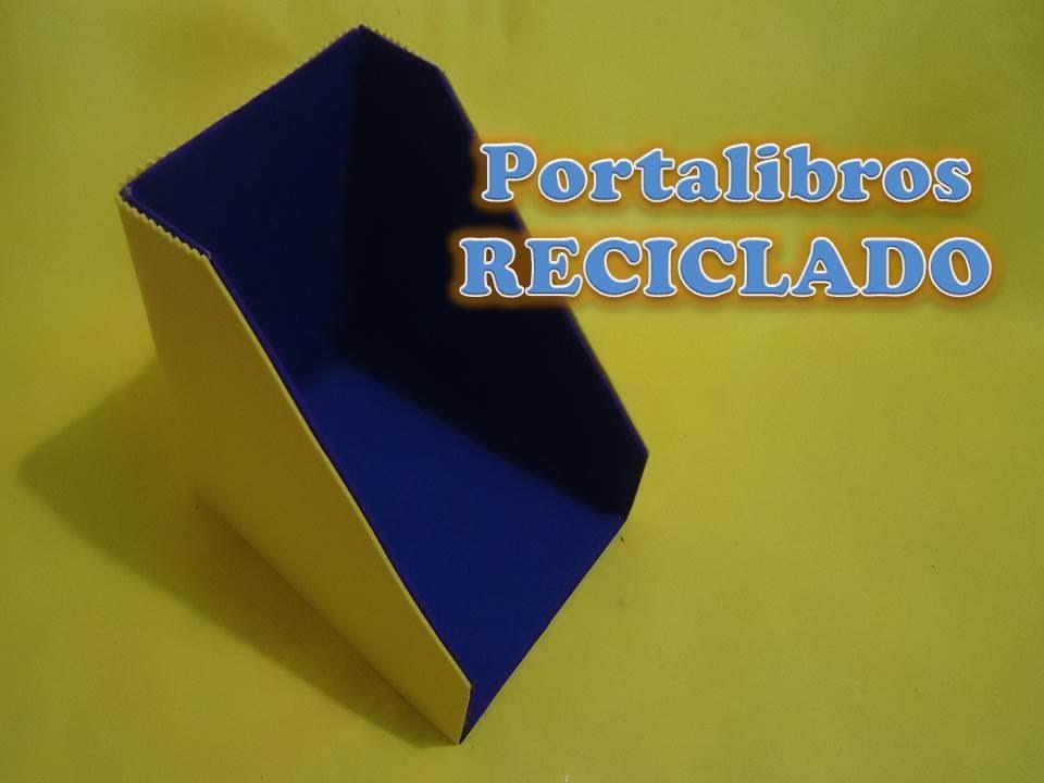 Portalibros Reciclado Pumitanegraart Youtube