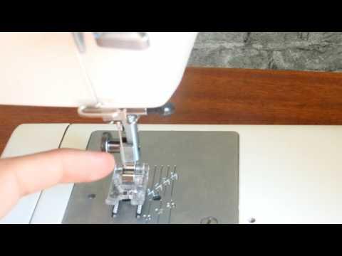 Как сменить лапку в швейной машине