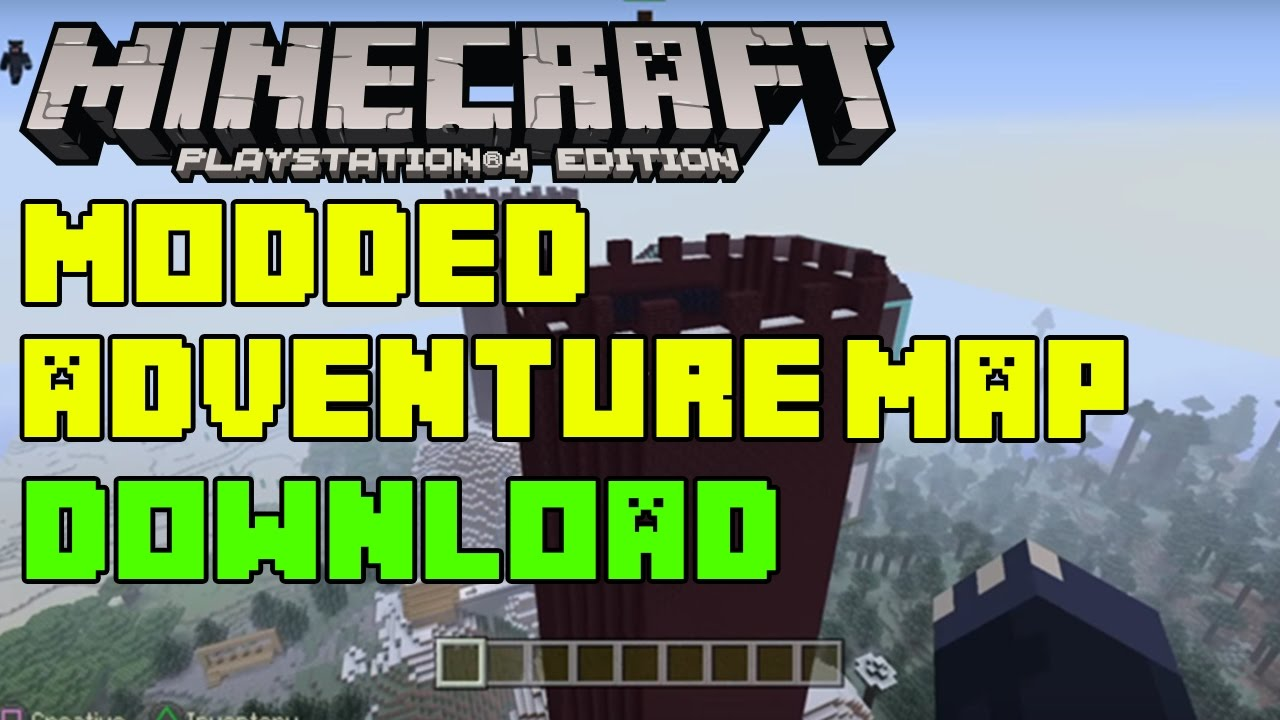 how to download custom maps minecraft ps4