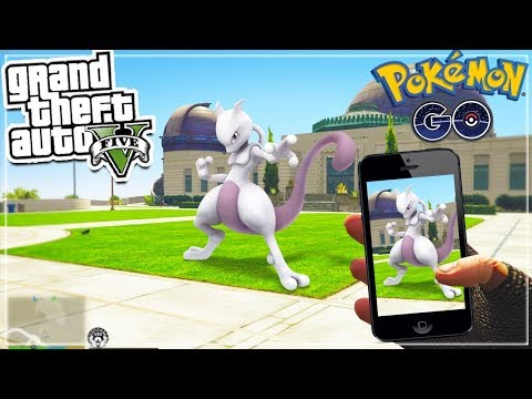 GTA 5 Mod: POKEMON GO MOD!🦄🙉💥😱  (GTA 5 Mods Gameplay)