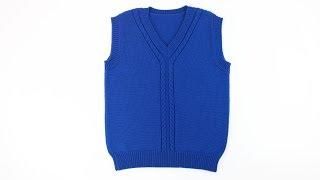 Вязаный жилет для мальчика . Knit vest for boys .