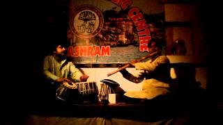 Indian tabla and flute played at the International Music Centre Ashram Varanasi