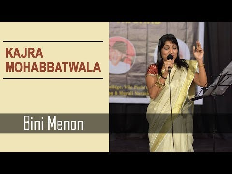 Bini Menon From Aawaaz Aur Andaaz Karaoke Club ( Cover Of Kajra Mohabbatwala )