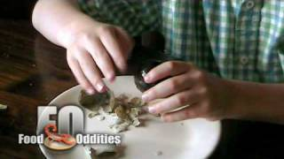 Remy Eats a 1000 Year Old Egg (Food Oddities - www.foododdities.com)