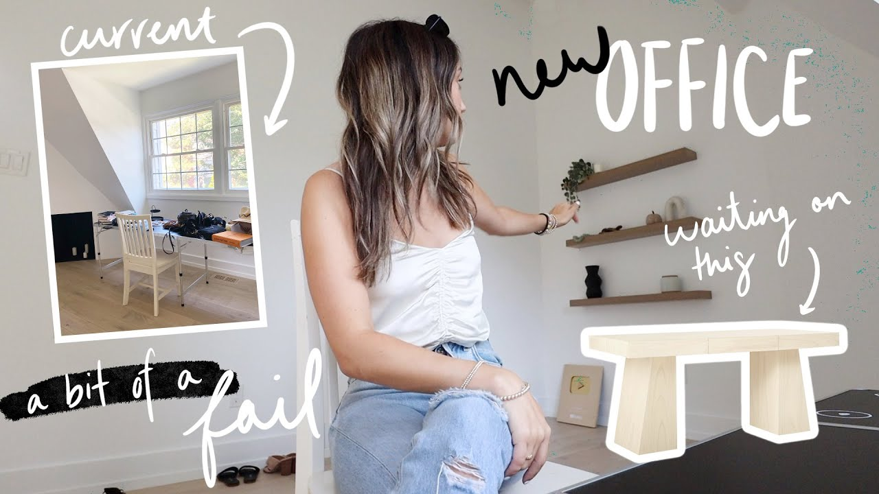 MOVING VLOGS day 5! Setting up my *temporary* NEW OFFICE! + fall haul!