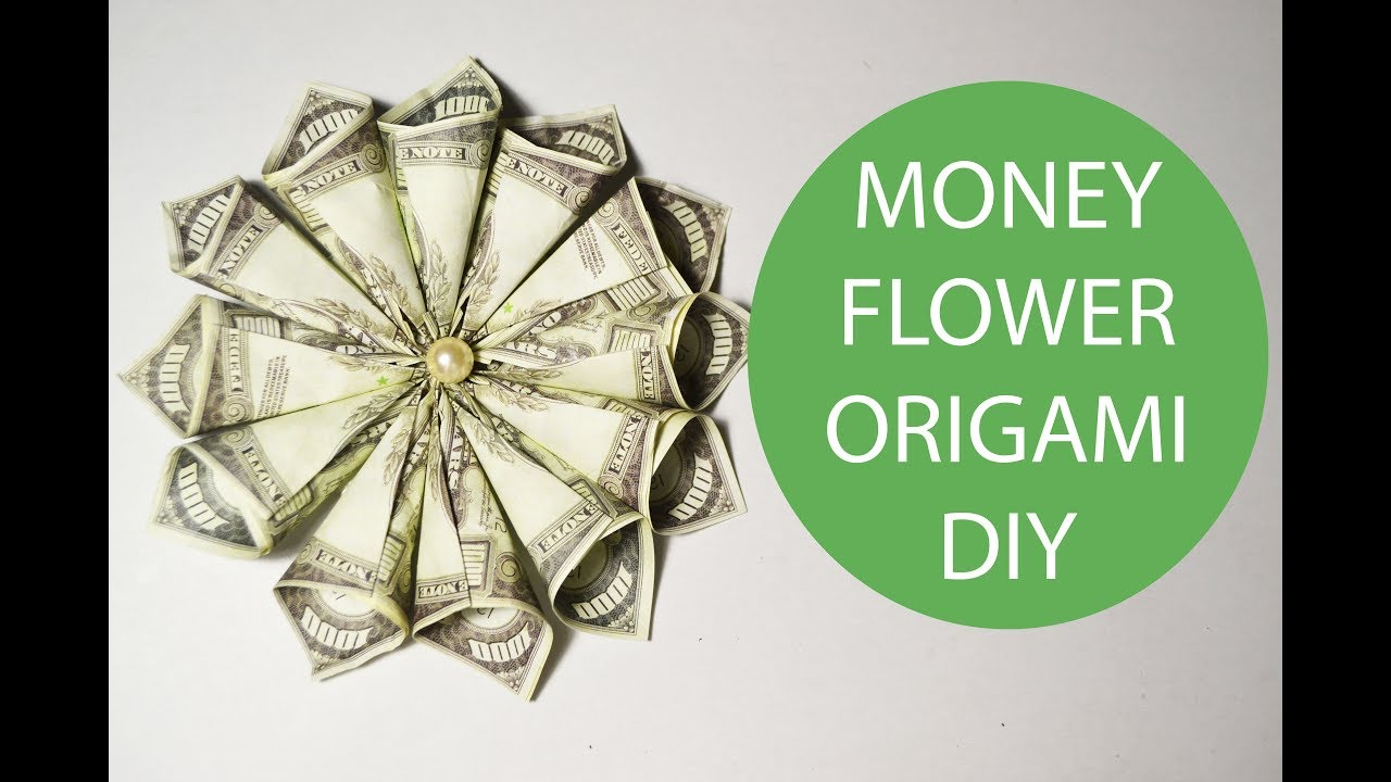 Big Money Flower Origami Tutorial Dollar Folded Diy Gift No Glue
