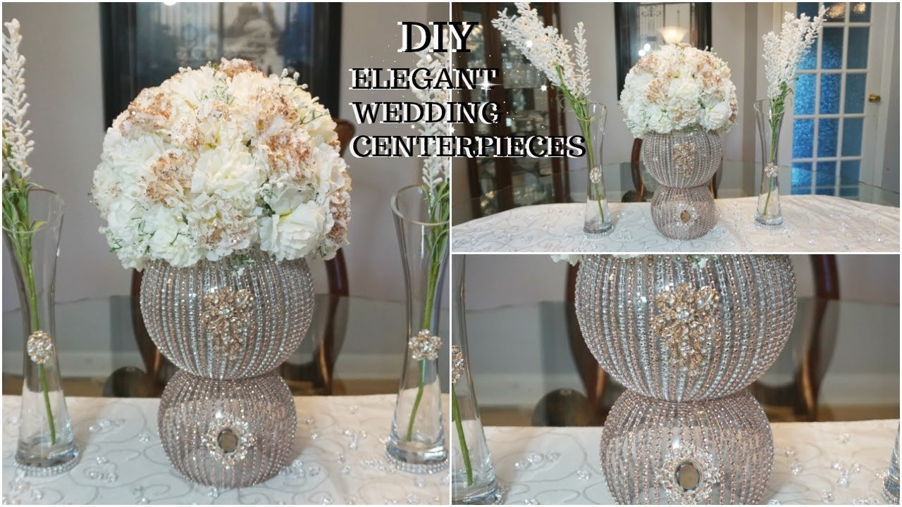 Diy Rose Gold Glam Wedding Centerpiece Ft Totally Dazzled