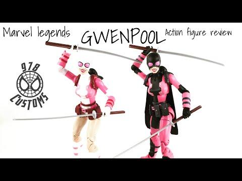 "Gwenpool Marvel Legends Spider-Man 6""  Lizard BAF wave action figure review"