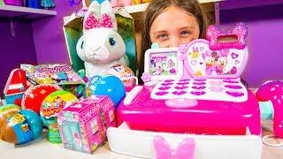 Toy Cash Register Surprise Toys for Kids Girls Blind Bags & Surprise Eggs Kinder Playtime