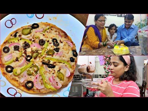 homemade-pizza-without-cheese-and-yeast-recipe---mummy-pappa-ki-anniversary-celebration-vlog