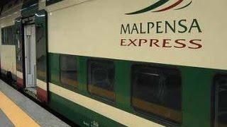 Вот он, поезд, который за 45 минут домчит нас от аэропорта Мальпенса до центрального вокзала Милана