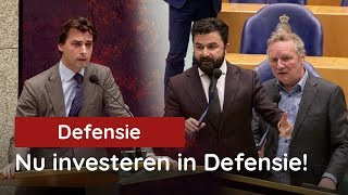 Baudet vs de Kamer tijdens defensiedebat: NU echt investeren in Defensie!