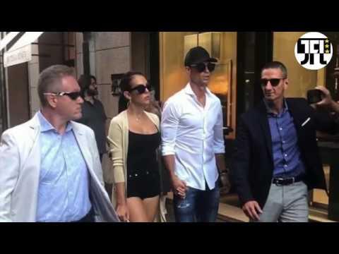 Cristiano Ronaldo Shopping in Milan With Georgina!!