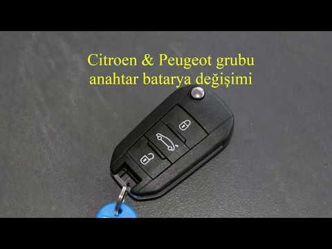 Citroen & Peugeot Grubu Araçların Anahtar Batarya Değişimi