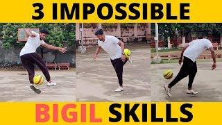 BIGIL Football Skills in 2 Minutes   இவை மிகவும் கடினமானவை 😱😱