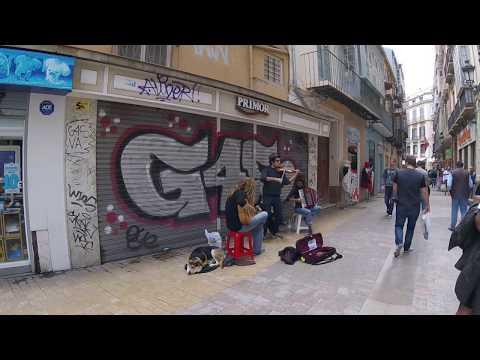 Musicians busking in Malaga Spain 2016