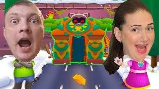 Космический забег в игре Том бег за золотом! Космонавт Том против Джина Анджелы от Каталекс! screenshot 2