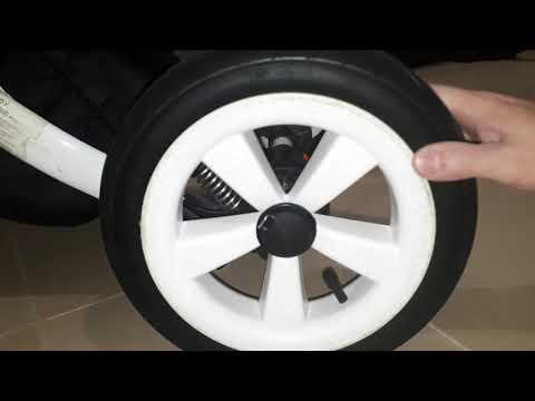 Как снять колеса с коляски