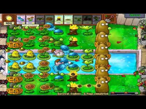 Plants vs Zombies- Survival Gameplay Ep.3 HD