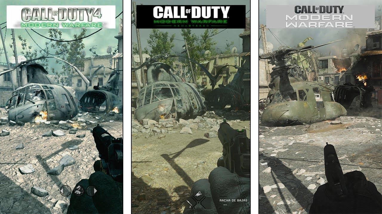 Call Of Duty Modern Warfare Crash Map Evolution 2007 2016