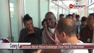 Sambutan Meriah Warnai Kedatangan Oscar Haris Di Kota Ambon