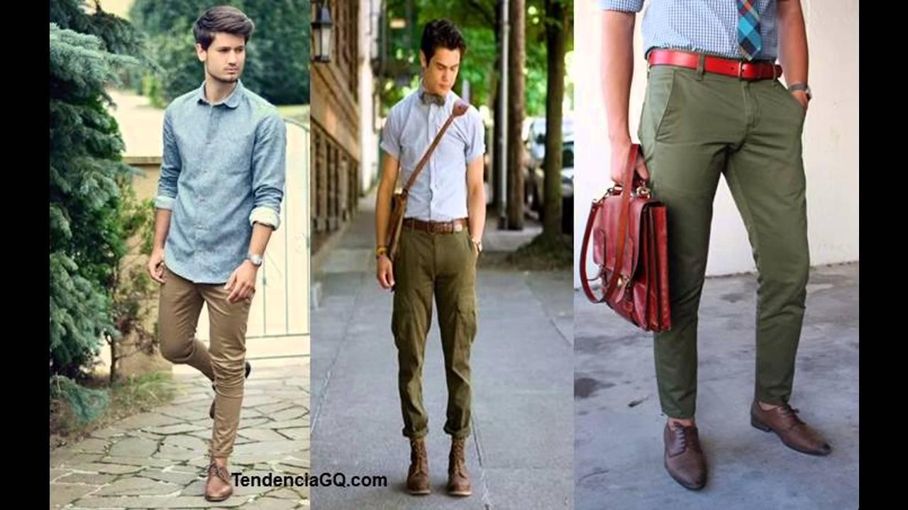 Outfit Pantalon Cafe Hombre Youtube