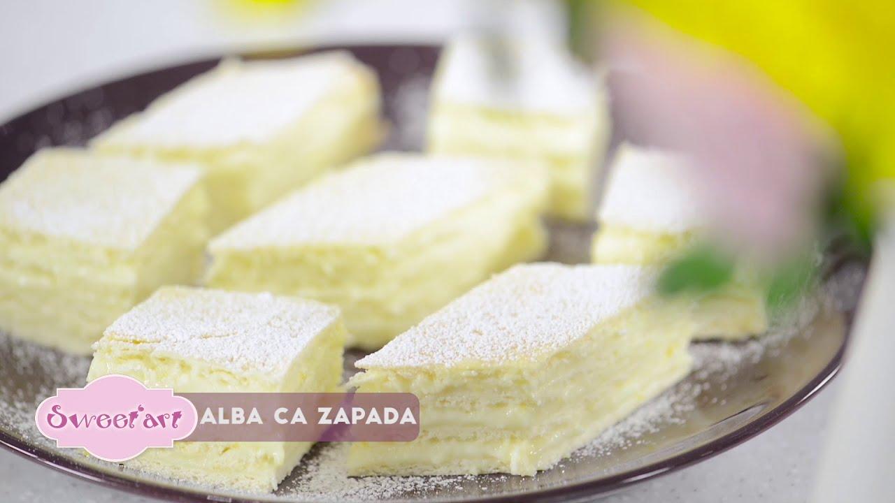 Reteta - Prajitura Alba ca Zapada cu crema fina de lamaie | Bucataras TV