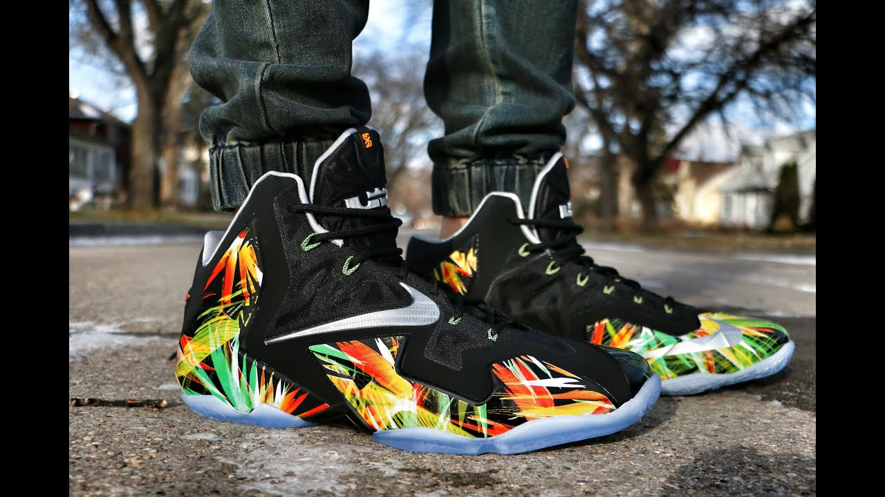 buy popular 5b853 c3939 Nike LeBron 11 Everglades - On Foot ...