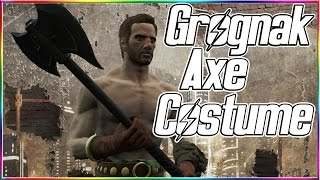 Fallout 4 - ★ Grognak Axe & Costume - Unique Weapon/Armor + Megazines & Silver Shroud Costume