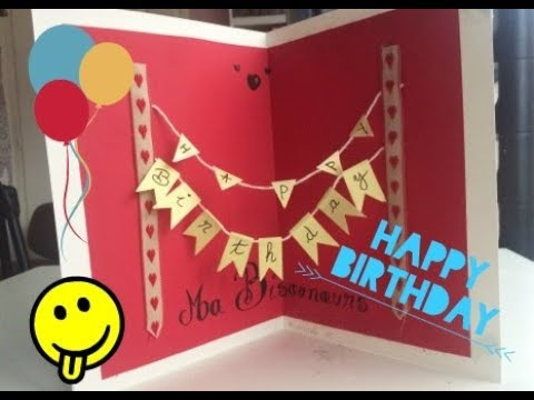 Diy Faire Une Carte D Anniversaire En 3d Youtube
