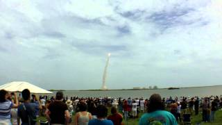 STS-135 Space Shuttle Atlantis - Final Launch Ever (Causeway View)