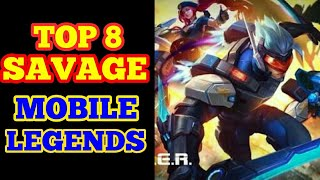 Baixar BEST 8 SAVAGE MOBILE LEGEND, DENGAN MACAM-MACAM HERO