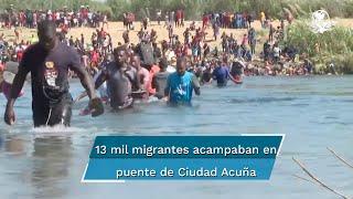 Bloquea puente y el río que cruzaban los migrantes desde Ciudad Acuña a Del Río. Autoridades en Coahuila instalan filtros para evitar el paso de personas sin papeles