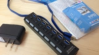 7 Port USB 3.0 Hub with 4A Power Adapter Review and USB 3.0 missing Driver Fix