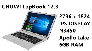 cHUWI Lapbook 12.3 Review - N3450 Apollo Lake 6GB RAM 64GB Storage