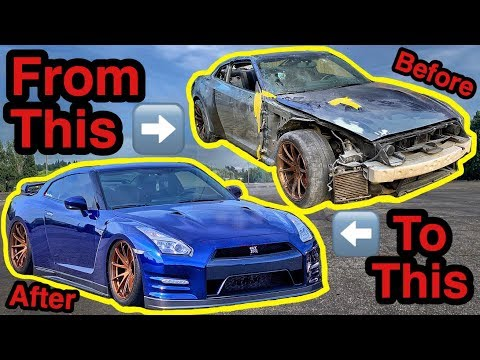 Rebuilding A Salvage Auction NISSAN GTR In 10 MINUTES Like THROTL