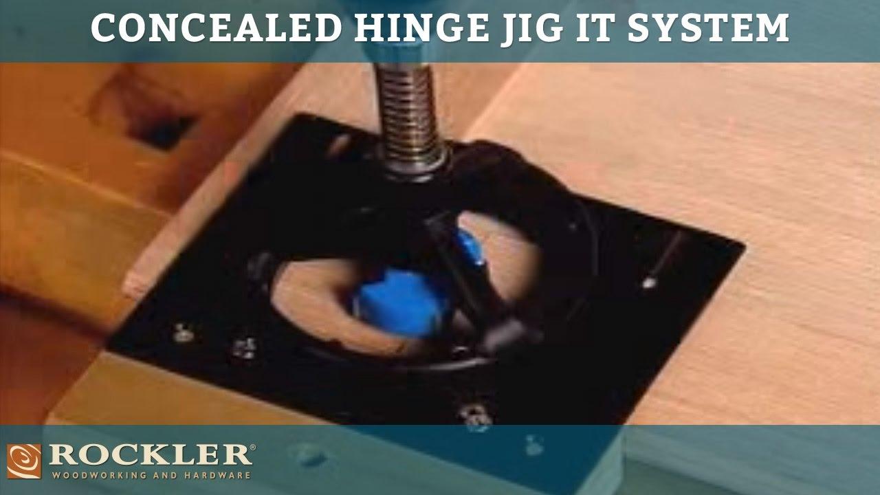 Rockler Concealed Hinge Jig It 174 System Youtube