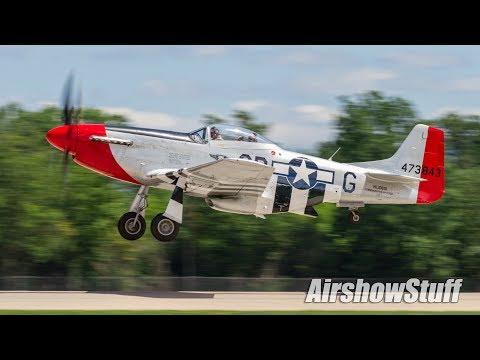 Warbird Arrivals and Departures - Monday (Part 1) - EAA AirVenture Oshkosh 2017