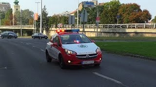 11-09-2016 Many different emergency vehicles in Budapest